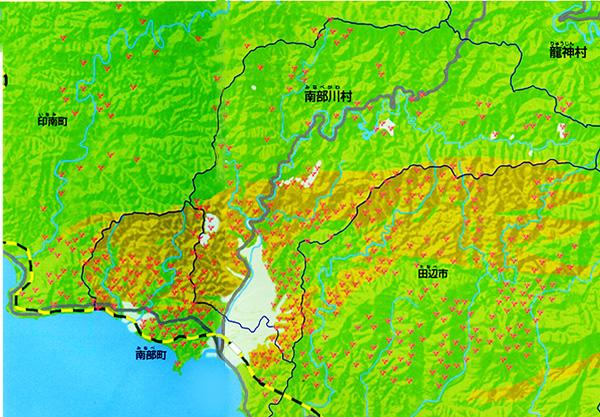 梅畑(梅林)と瓜谷累層
